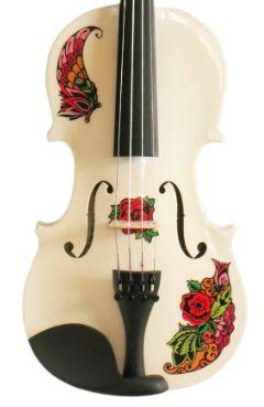 butterfly rose tattoo violin www.rozannasviolins.com