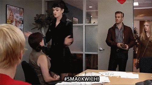 "You immediately added #Smackwich to your vocabulary. | Community Post: 10 Reasons ""Don't Trust The B---- In Apartment 23"" Was Too Good For"