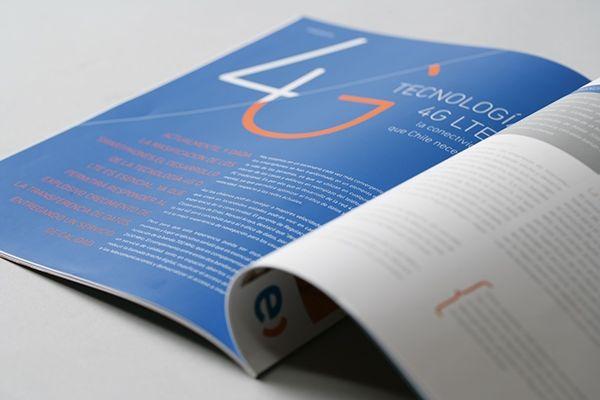 Entel Magazine by Labdiseño Chile, via Behance
