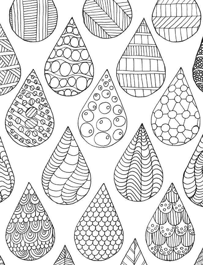 drops coloring page от sneezerville на Etsy