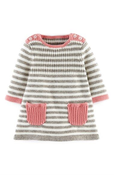 Mini Boden 'Stripy' Knit Dress (Baby Girls) Nordstrom - no pattern - just idea