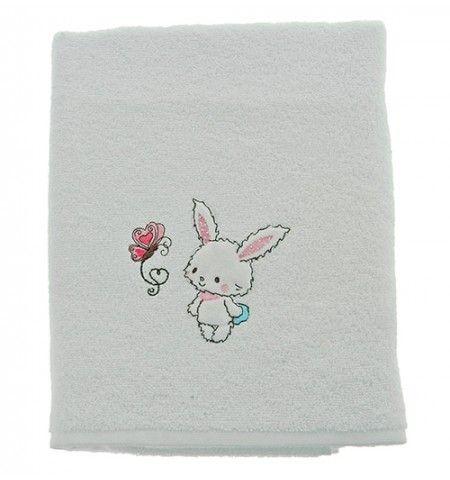 Drap de douche enfant coton 500g/m² Baby Rabbit