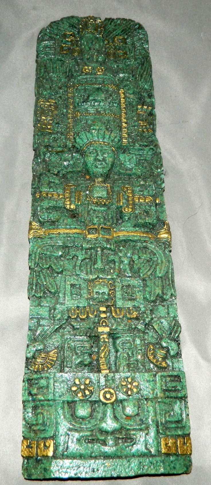 Mayan Symbols - End of the World Lucky Charm - http://www.etsy.com/listing/94197756/vintage-mayan-stone-cast-resin-plaque
