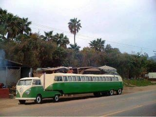 VW Bus Tractor & Trailer? This VW 'bug' is a caterpillar waiting to turn into a vacation.