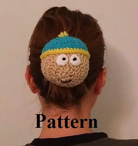 Un cubre-moños de Cartman de ganchillo. Patrón de pago.