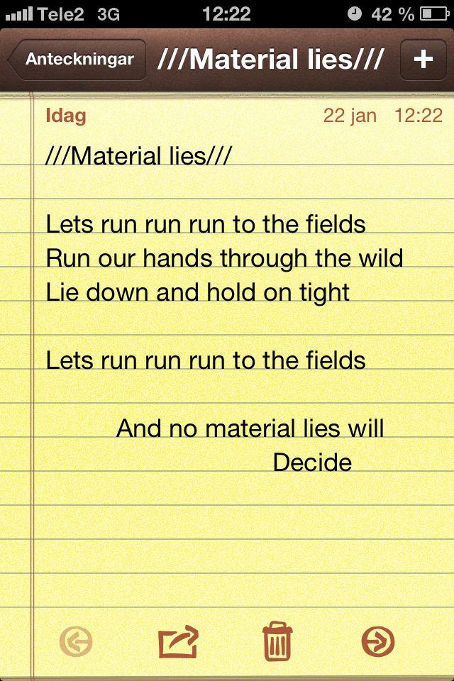 material lies
