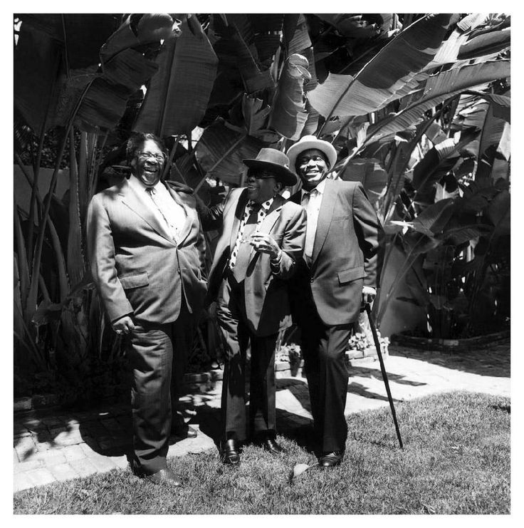 B.B. King, John Lee Hooker and Willie Dixon, Los Angeles, CA 1991 Photo Paul Natkin