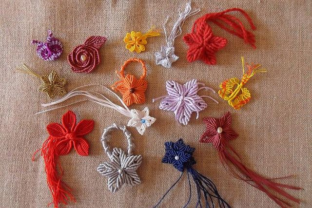 Fiori e farfalle con filati vari | Flickr - Photo Sharing!