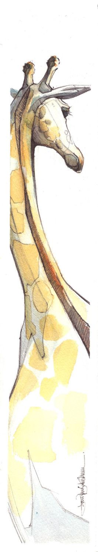 giraffe watercolor - ©Jennifer Kraska - www.etsy.com/listing/43636726/giraffe-small-print