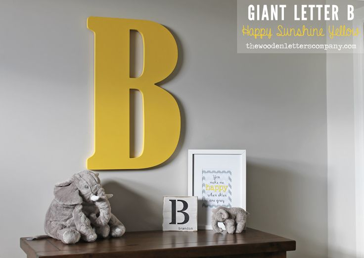 1000 images about giant wooden letters on pinterest for Big wooden letter b