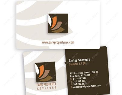 44 best business card design images on pinterest business cards check out new work on my behance portfolio park property advisors business card reheart Image collections
