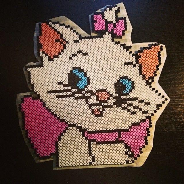 Marie - Aristocats perler beads by xpeachheart