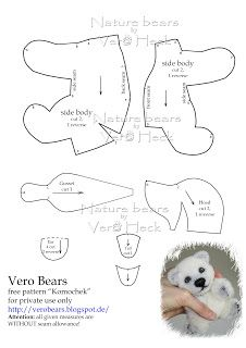 DIY Polar Bear Softie - FREE Pattern / Template