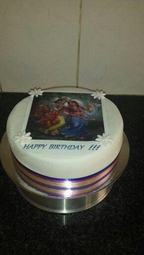 My radhe krishna cake