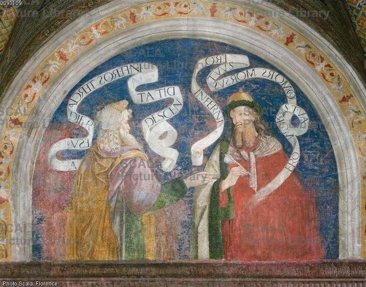 Pier Matteo d'Amelia (c. 1450-1503\8) - Matthew and Hosea - affresco - 1492-1494 - Sala del Credo - Appartamento Borgia - Palazzo Apostolico della Città del Vaticano - Musei Vaticani