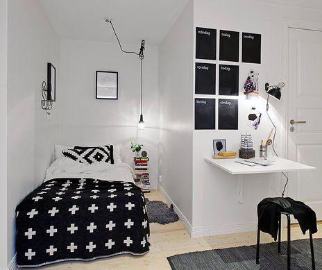 Zwart en wit #tienerkamer | Black and white #teen room