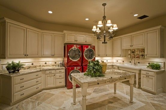Laundry Room. Laundry Room with lots of storage space! #LaundryRoom