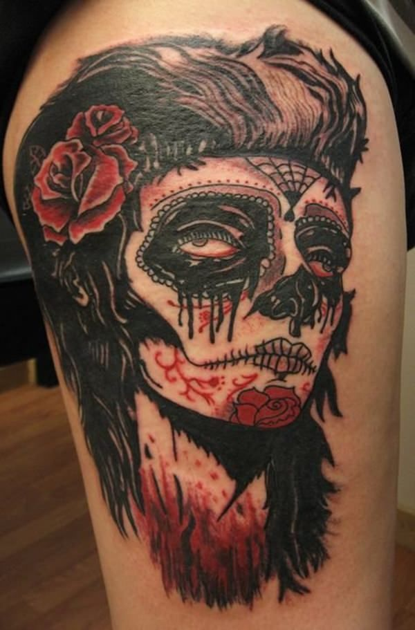 60 day of the dead tattoos you will want to get asap - 600×911