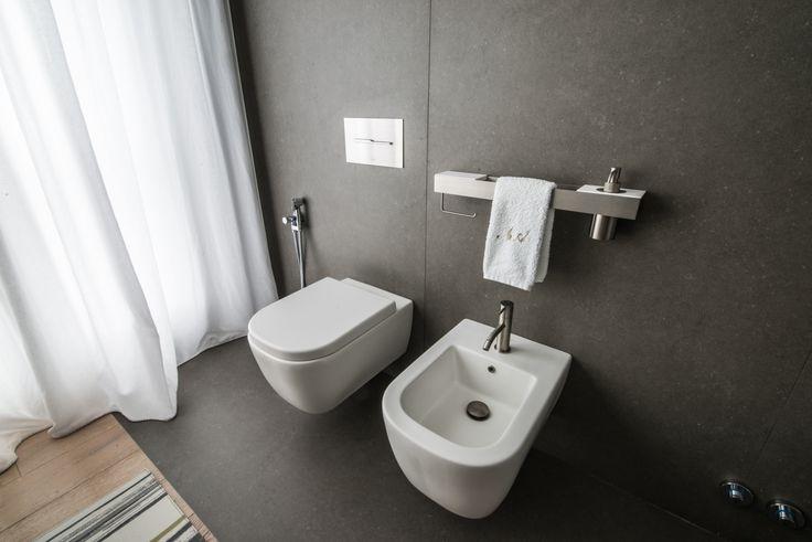 Arredamento, mobili, bagno, sanitari, marmo, arredo bagno, rubinetteria, vasca, docce, lavabi, piani, Arredo bagno Bergamo, Bagno di Servizio, design