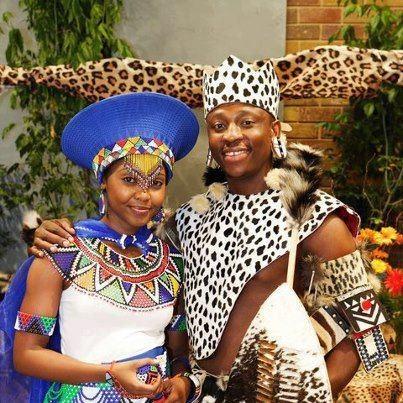 Zulu couple in South Africa.