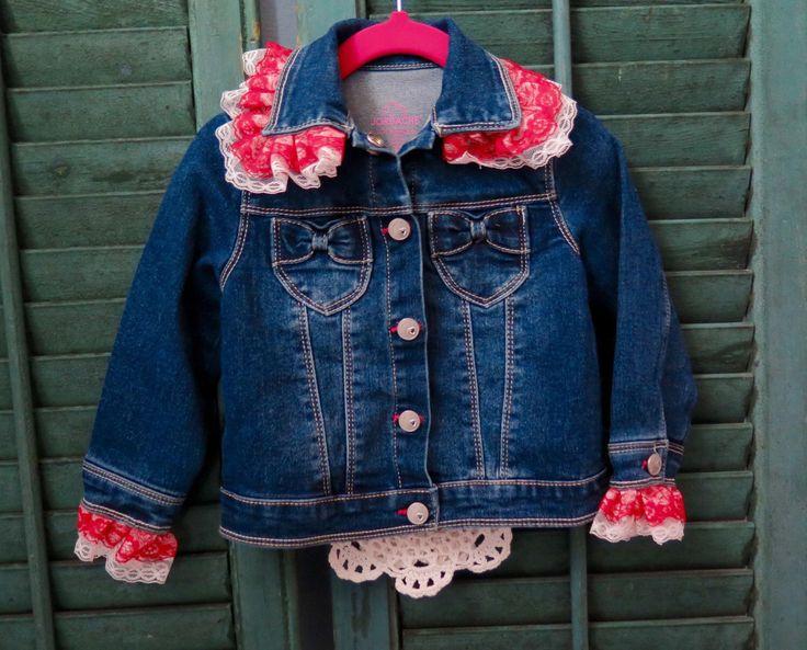 Shabby Chic Frilly Blue Jean Jacket by ShabbyChicCornerToo on Etsy https://www.etsy.com/listing/253843755/shabby-chic-frilly-blue-jean-jacket