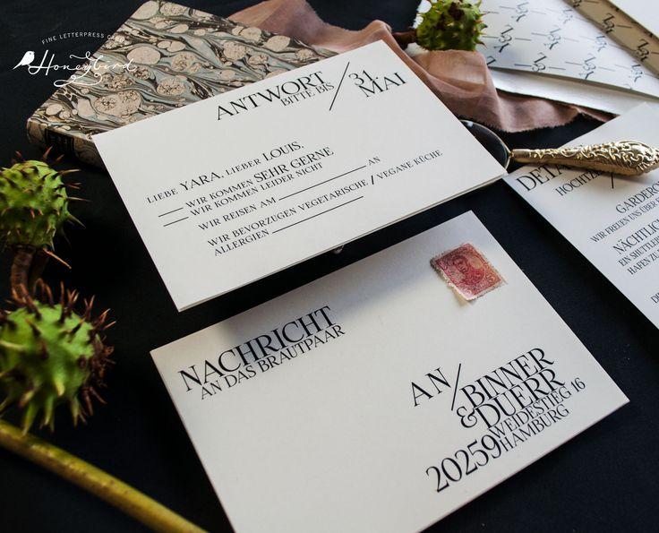 Honeybird Chelsea Design  Antwortkarte, Hochzeitspapeterie