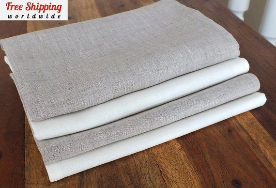 These Natural Linen Cloth Dinner Napkins Bring A Stylish Touch To Your Table Setting Great For Everyday Cloth Dinner Napkins Cloth Napkins Bulk Linen Clothes