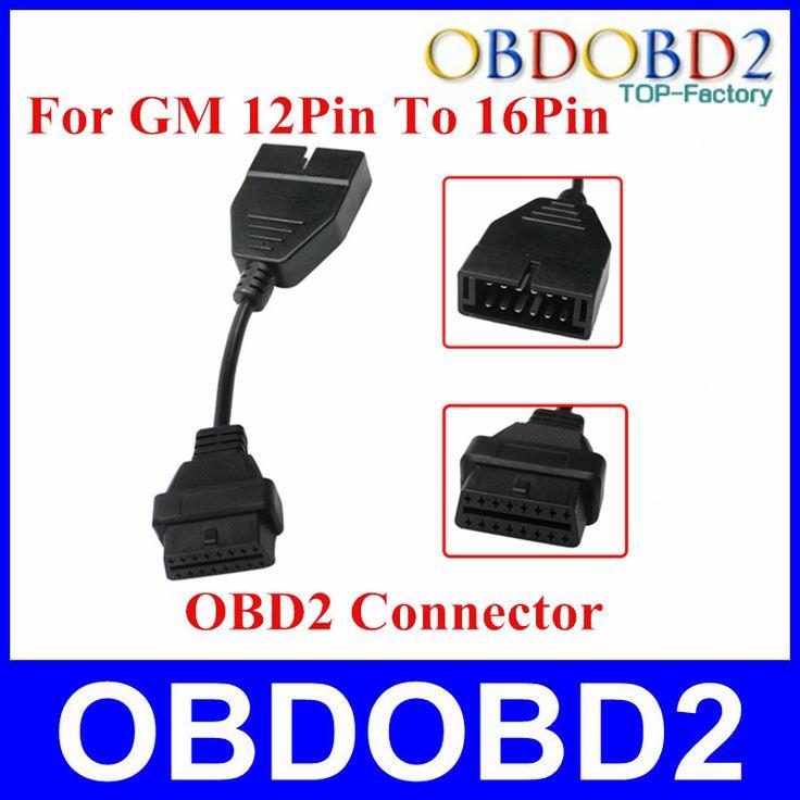 OBD/OBD2 Konektor untuk GM 12 PIN Adapter untuk 16Pin Kabel Diagnostik untuk GM 12Pin untuk GM Kendaraan CNP gratis