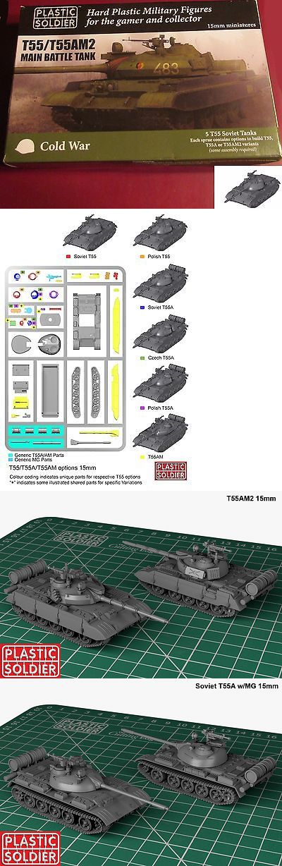 15mm 158728: Plastic Soldier Company Modv15001 Cold War Soviet T55 T55am2 Main Battle Tank -> BUY IT NOW ONLY: $37.75 on eBay!
