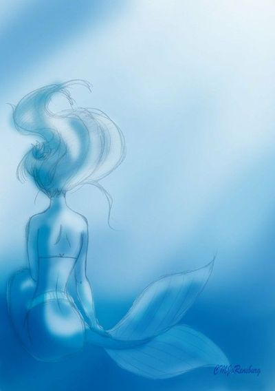 Ariel - Great tattoo idea for The Little Mermaid lovers. A sketch of Ariel.