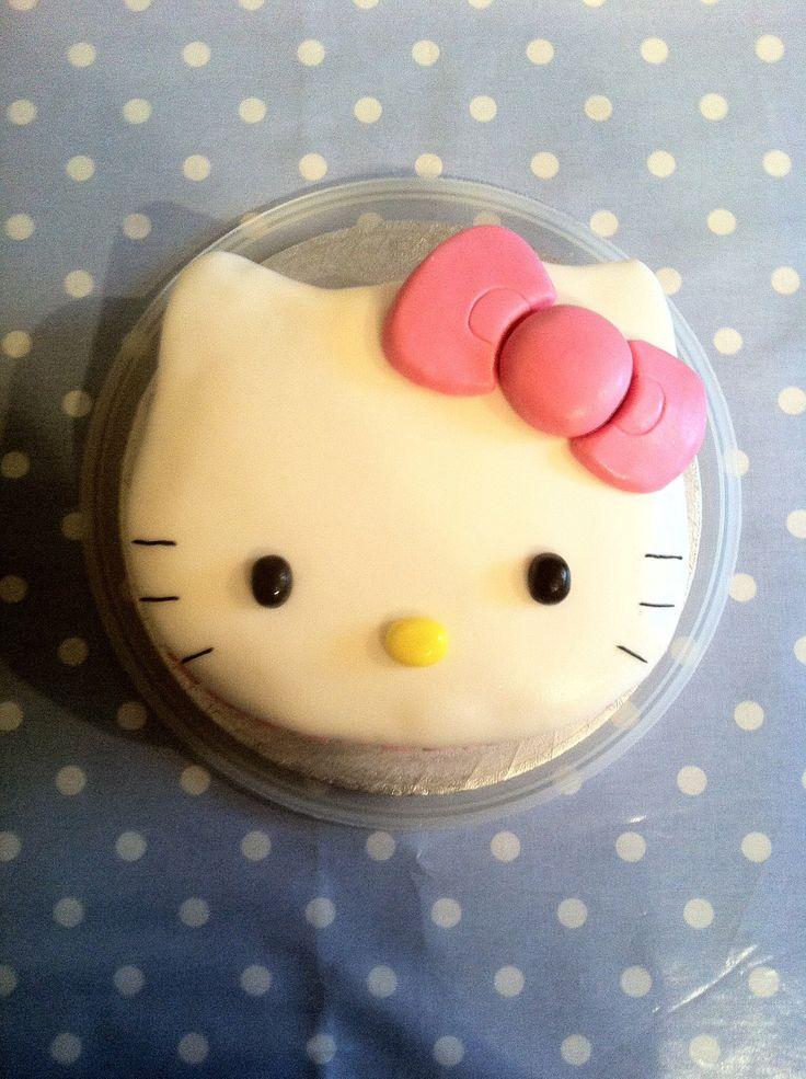 Hello Kitty Shaped Cake