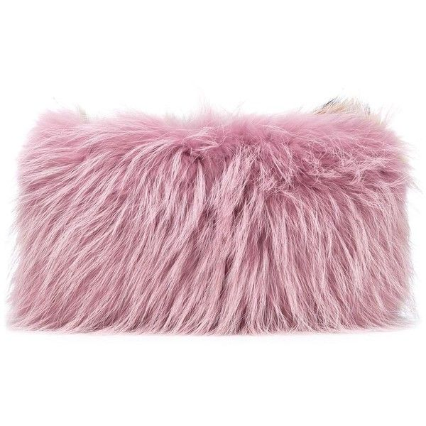 Mr & Mrs Italy two tone fur clutch found on Polyvore featuring bags, handbags, clutches, brown, fur handbags, fur purse, fur clutches, two tone handbags and purple purse