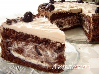 [/b] Для бисквита: 6 яиц 220 гр муки 220 гр сахара 3 ст ложки какао-порошка 1 чайная ложка (не полная )аммония Для крем...