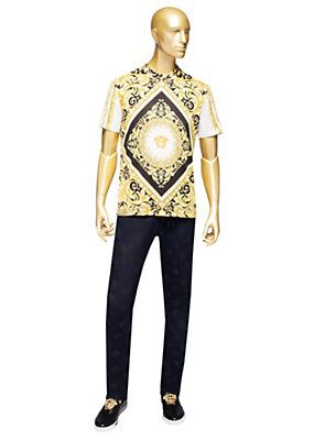 Versace - Iconic Barocco Printed T-Shirt