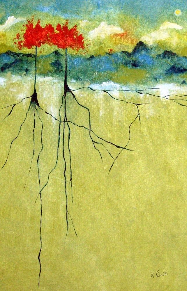 Deep Roots Abstract Tree Painting Abstract Nature Nature Paintings
