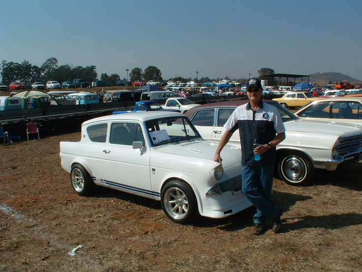 My 1960 Anglia Cosworth at Cars in the park.