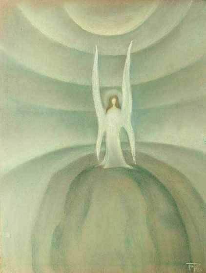 Lonely angel by Boris Smirnov Rusetsky