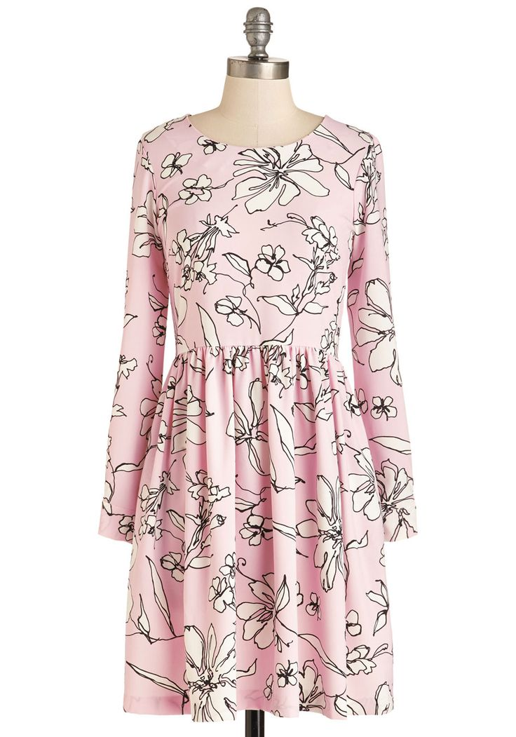 Cruise Up the Coast Dress. Make a date with the open road in this soft floral frock by Closet! #pink #modcloth