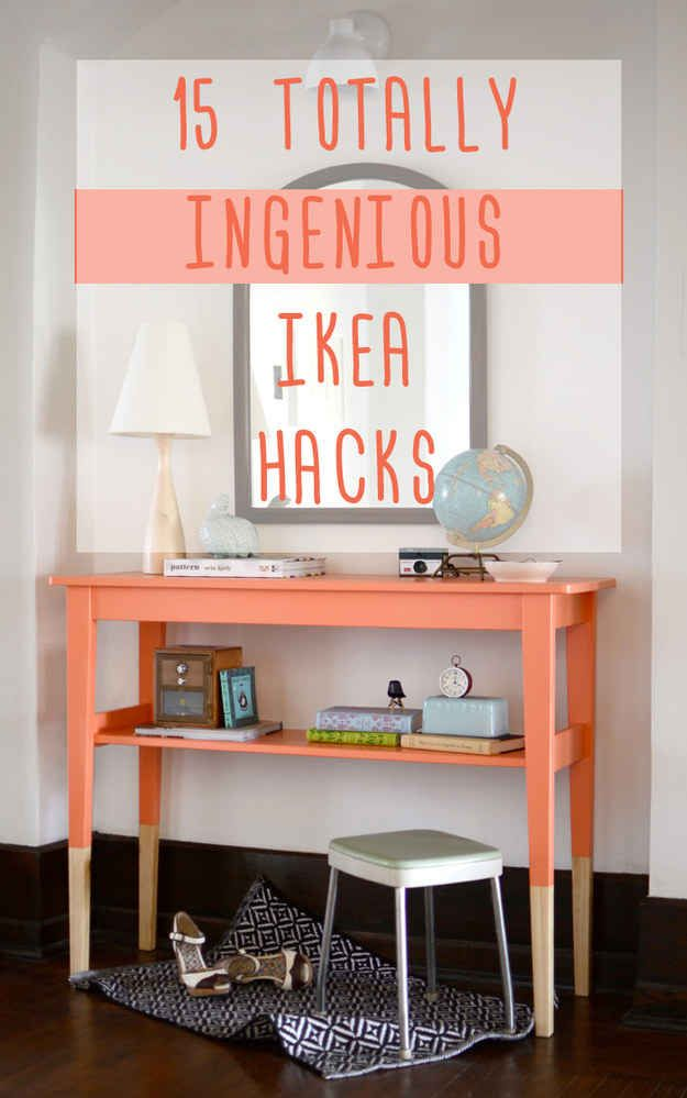 I like the Lack ottoman- 15 Totally Ingenious IKEA Hacks