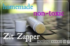 Homemade Non-toxic Zip Zapper - Only 2 Ingredients! No more acne!