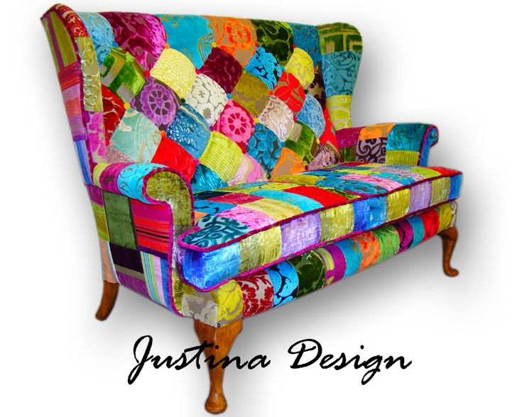 319 best patchwork furniture images on pinterest for Sofa patchwork