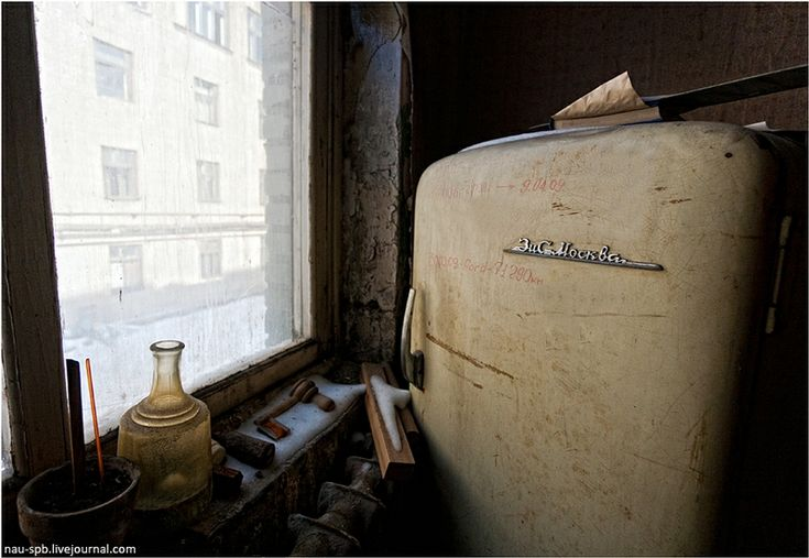 Abandoned kitchen in Russian flat.