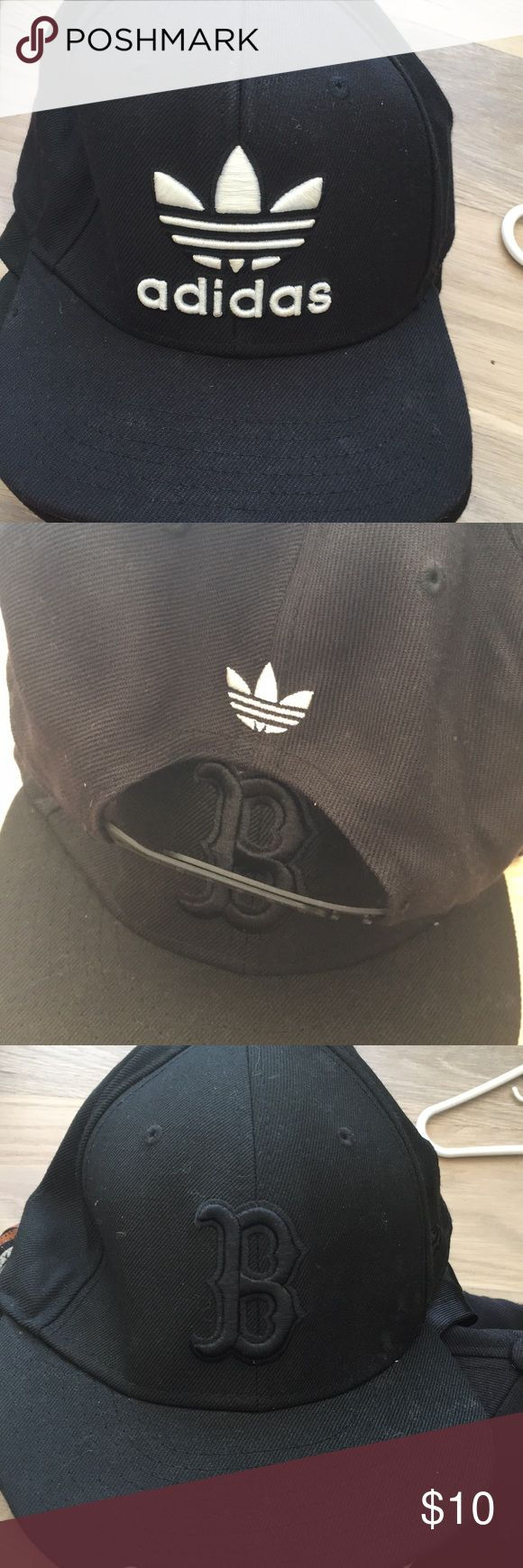Adidas SnapBack and or boston fitted hat Boston fitted all black cap  Adidas SnapBack adidas Accessories Hats