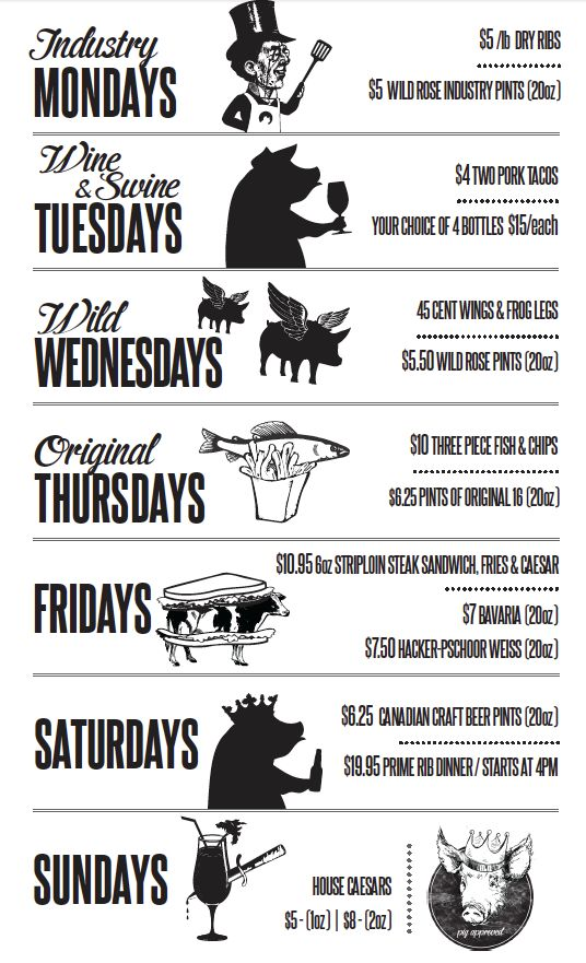 """Pig & Duke (Calgary, AB) """"Rotating taps, custom cask nights and killer food, like frog legs served chicken-wing-style, make this watering hole a step above the rest."""""""