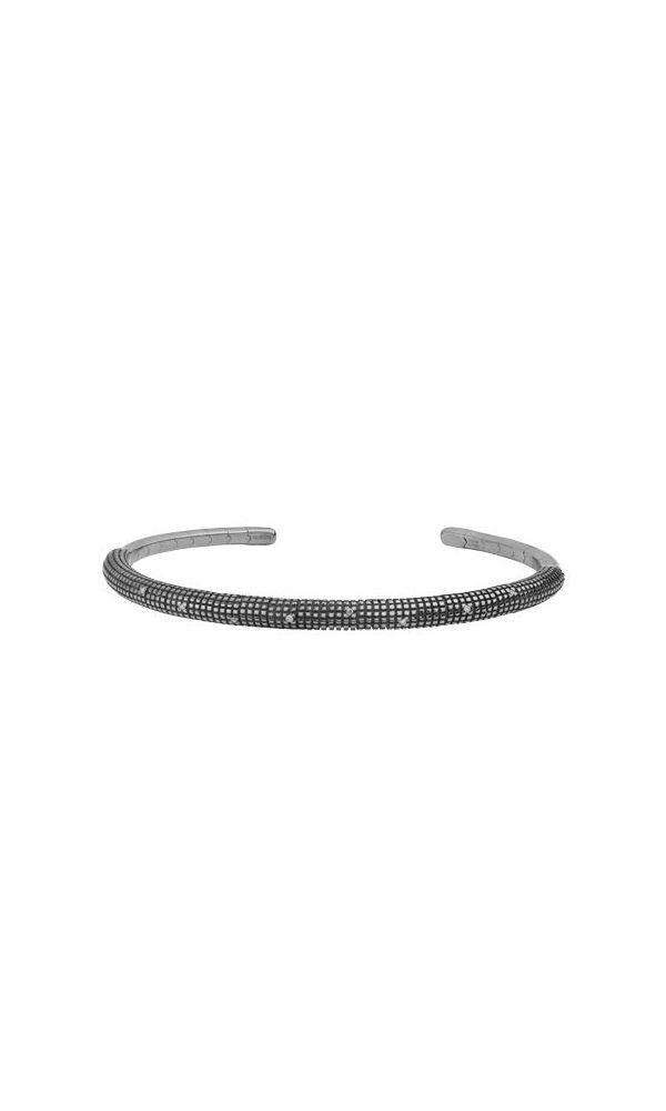 Black gold and diamonds bracelet