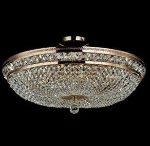 Casa Padrino Barock Kristall Decken Kronleuchter Gold 65 x H 34 cm Antik Stil – Möbel Lüster Leuchter Deckenleuchte Deckenlampe