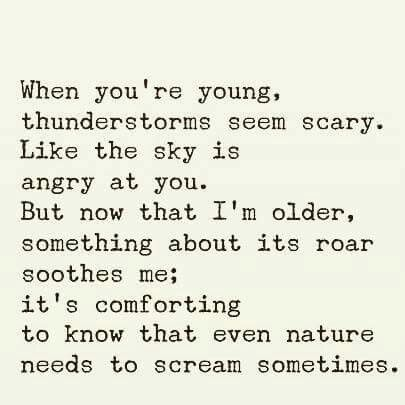 When you're young, thunderstorms seem scary. Like the sky is angry at you. But…