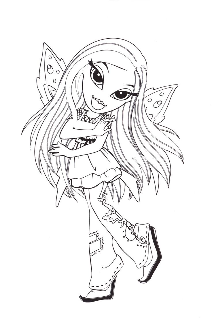 bratzillaz coloring pages online - photo#22