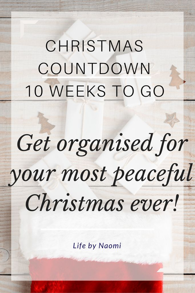 Christmas Countdown Get organised for a peaceful christmas presents menus meal plans
