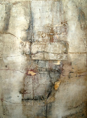 Jeane Meyers | Heading for Saturday | mixed media and wax on panel.